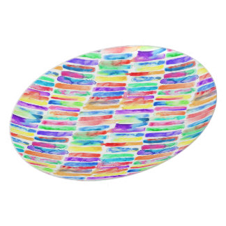 Watercolor Rainbow Plate