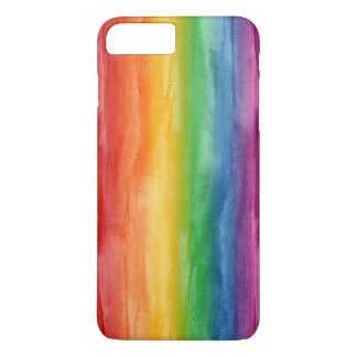 Watercolor Rainbow Stripes iPhone 8 Plus/7 Plus Case