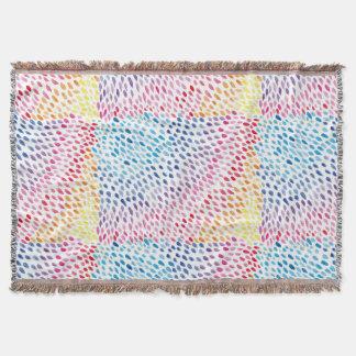 Watercolor Rainbow Throw Blanket