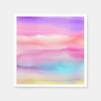 Watercolor Rainbows - All Options Paper Napkin