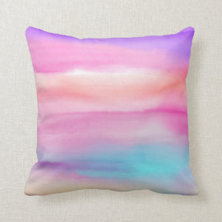 Watercolor Rainbows - All Options Throw Pillow