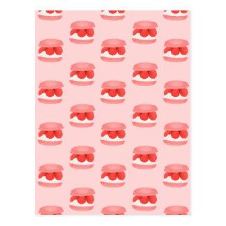 Watercolor Raspberry Cream Macaron All Over Print Postcard