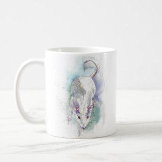 Watercolor rat coffee mug