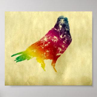 Watercolor Raven Poster