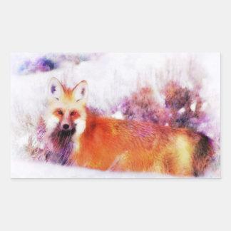Watercolor Red Fox Resting Sticker