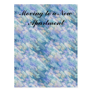 Watercolor Retro Apartment Change of Address Postcard