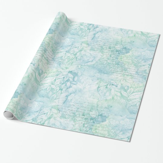 Watercolor Retro Beach Themed Wrapping Paper #3