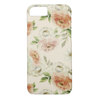 Watercolor retro classic floral design, roses Case-Mate iPhone case