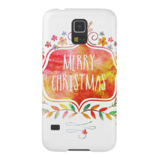 Watercolor Retro Merry Christmas Galaxy S5 Case