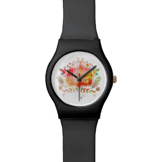 Watercolor Retro Merry Christmas Watch