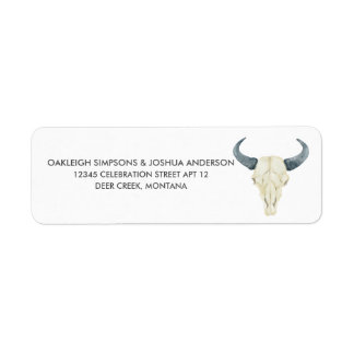 Watercolor Rodeo | Return Address Labels
