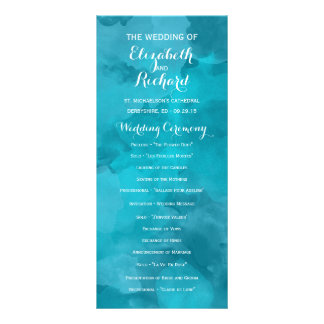 Watercolor Romance Wedding Programs Personalized Rack Card