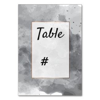 Watercolor Romantic grayish black table number