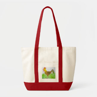 Watercolor Rooster Bag