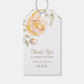 Watercolor Rose Floral Wedding Gift Tags