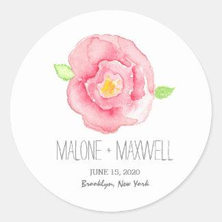Watercolor Rose I Floral Wedding Sticker