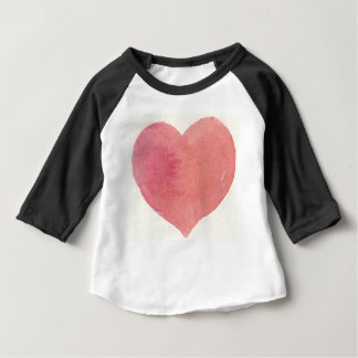 Watercolor Rose Painted heart Baby T-Shirt