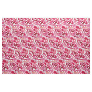 Watercolor rose pattern fabric