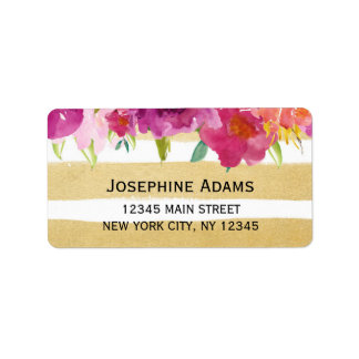 Watercolor Roses Address Labels