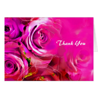 WATERCOLOR ROSES Bat Mitzvah Thank You Card