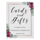 Watercolor roses Calligraphy Cards and Gifts sign