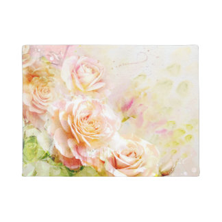 Watercolor Roses Doormat
