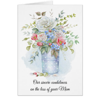 Watercolor Roses, Poppies, Wildflowers Sympathy | Card