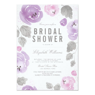 Watercolor Roses Romantic Bridal Shower Invite