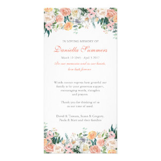 Watercolor Roses Sympathy Funeral Thank You Card