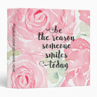 Watercolor roses vinyl binders