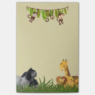 Watercolor Safari Jungle Animal Illustration Post-it Notes