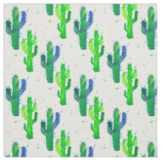 Watercolor Saguaro Cactus Fabric