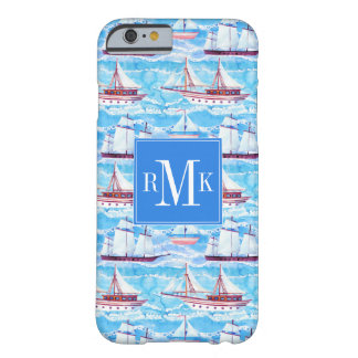 Watercolor Sailing Ships Pattern Barely There iPhone 6 Case