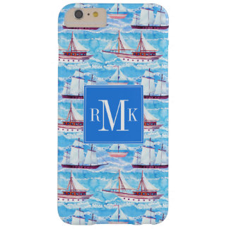 Watercolor Sailing Ships Pattern Barely There iPhone 6 Plus Case