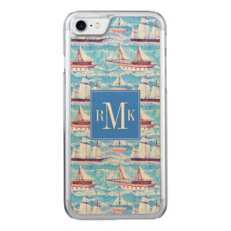 Watercolor Sailing Ships Pattern Carved iPhone 8/7 Case