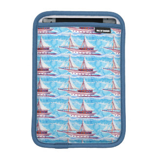 Watercolor Sailing Ships Pattern iPad Mini Sleeve