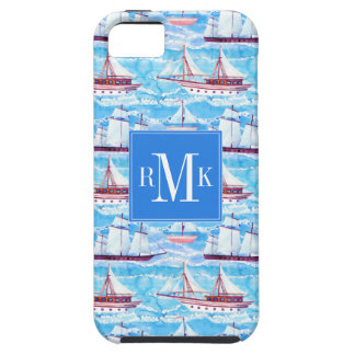 Watercolor Sailing Ships Pattern iPhone 5 Covers