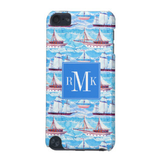 Watercolor Sailing Ships Pattern iPod Touch 5G Case