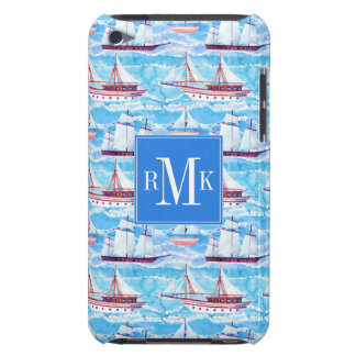 Watercolor Sailing Ships Pattern iPod Touch Case-Mate Case