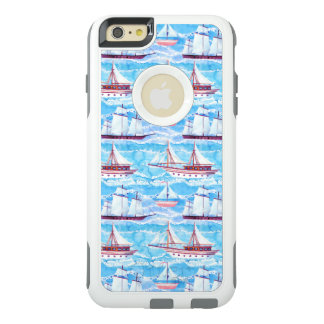Watercolor Sailing Ships Pattern OtterBox iPhone 6/6s Plus Case