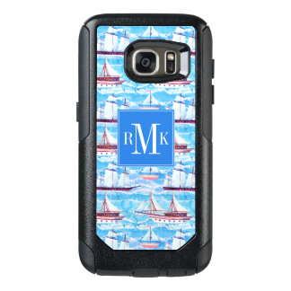 Watercolor Sailing Ships Pattern OtterBox Samsung Galaxy S7 Case