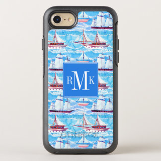 Watercolor Sailing Ships Pattern OtterBox Symmetry iPhone 8/7 Case