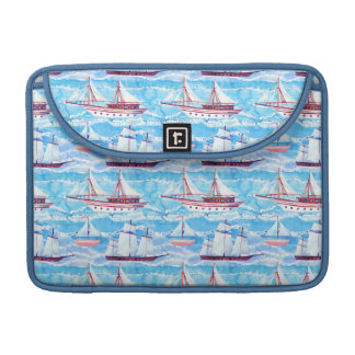 Watercolor Sailing Ships Pattern Sleeve For MacBooks