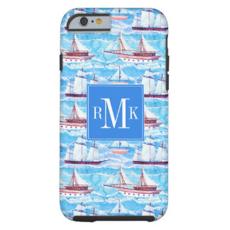 Watercolor Sailing Ships Pattern Tough iPhone 6 Case