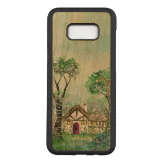 Watercolor Samsung Galaxy S8 Slim Cherry Wood Case
