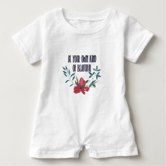 Watercolor sayings baby romper