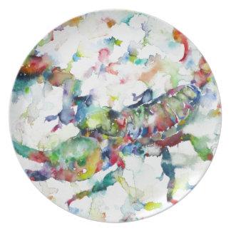 watercolor SCORPION Plate