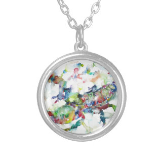 watercolor SCORPION Silver Plated Necklace