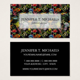 Watercolor Sea Life Pattern 1 Business Card