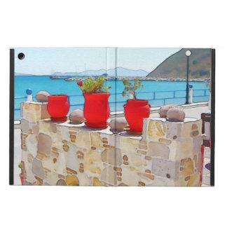 Watercolor sea view iPad air case